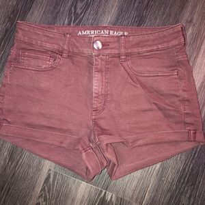 American Eagle super super stretch Hi Rise shortie